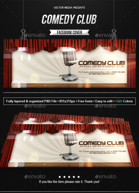 Comedy Club - Facebook Cover - Facebook Timeline Covers Social Media