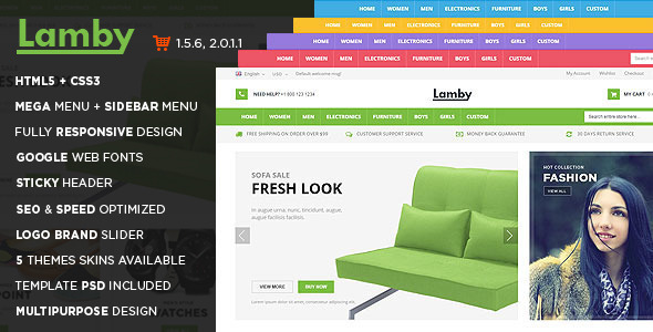 Lamby - Shoes Store Responsive OpenCart Theme