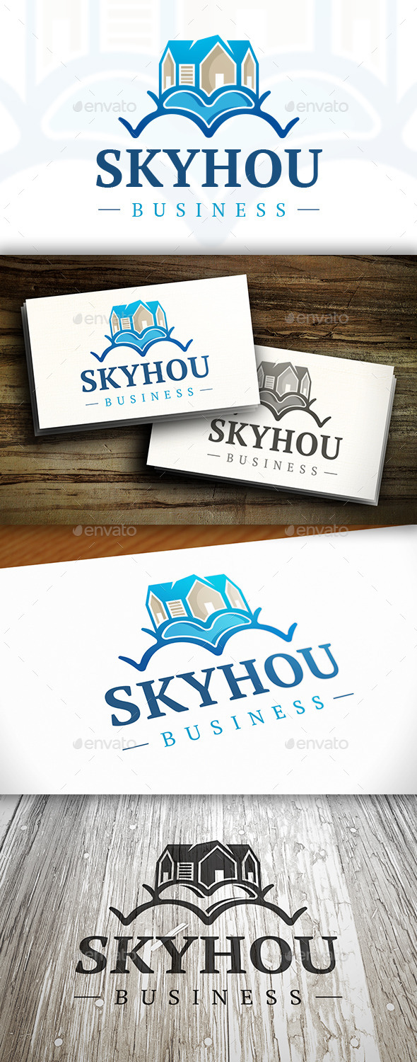 Sky House Logo - Buildings Logo Templates
