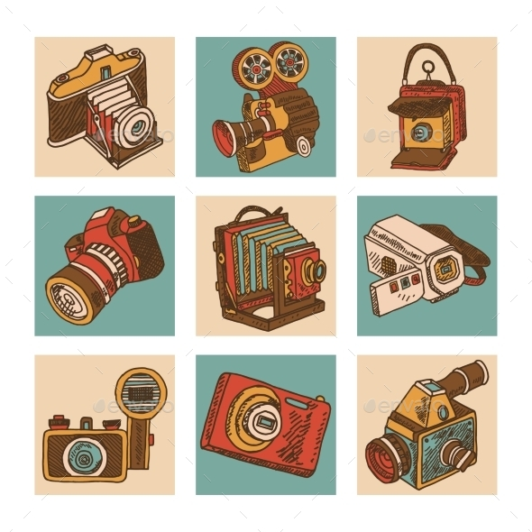 Camera Icon Set - Technology Icons