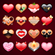 Set of Erotic Heart Icons - GraphicRiver Item for Sale