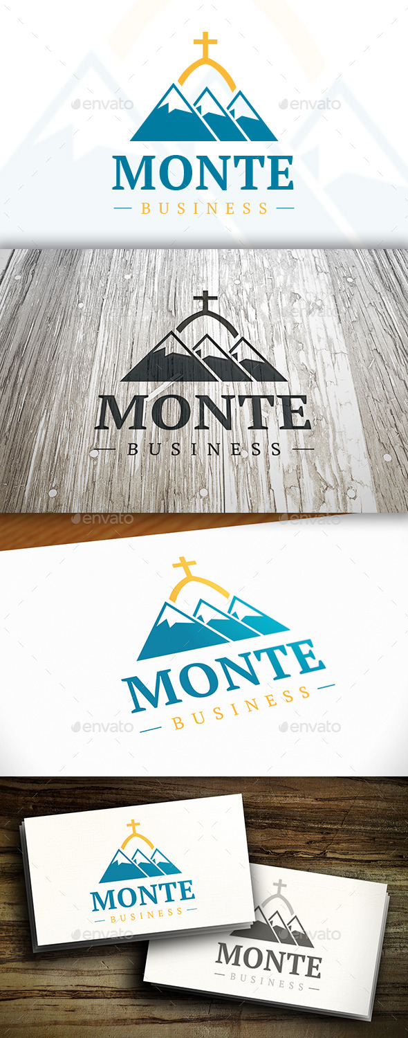 Mountain Temple Logo - Nature Logo Templates
