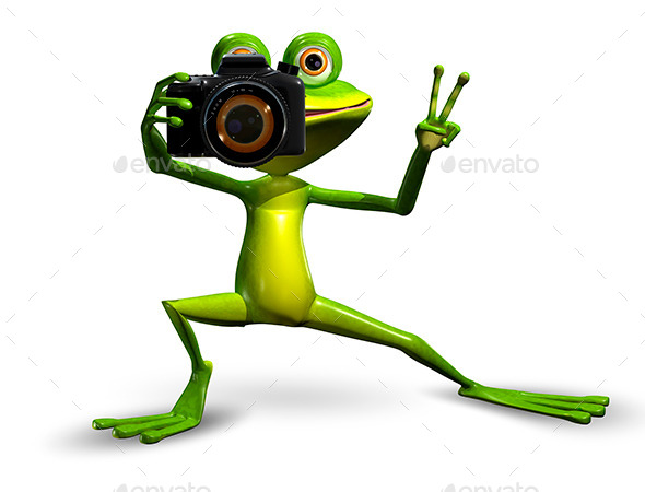 Frog with a Camera - Characters 3D Renders