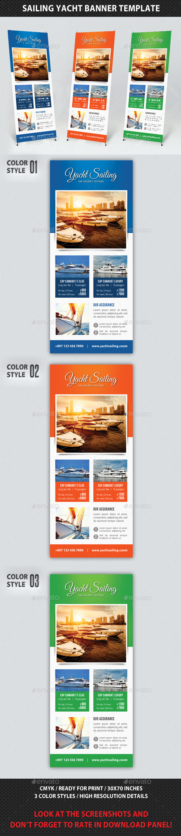 Sailing Yacht Banner Template 03 - Signage Print Templates