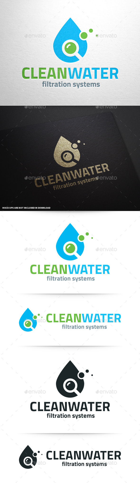 Clean Water Logo Template - Nature Logo Templates