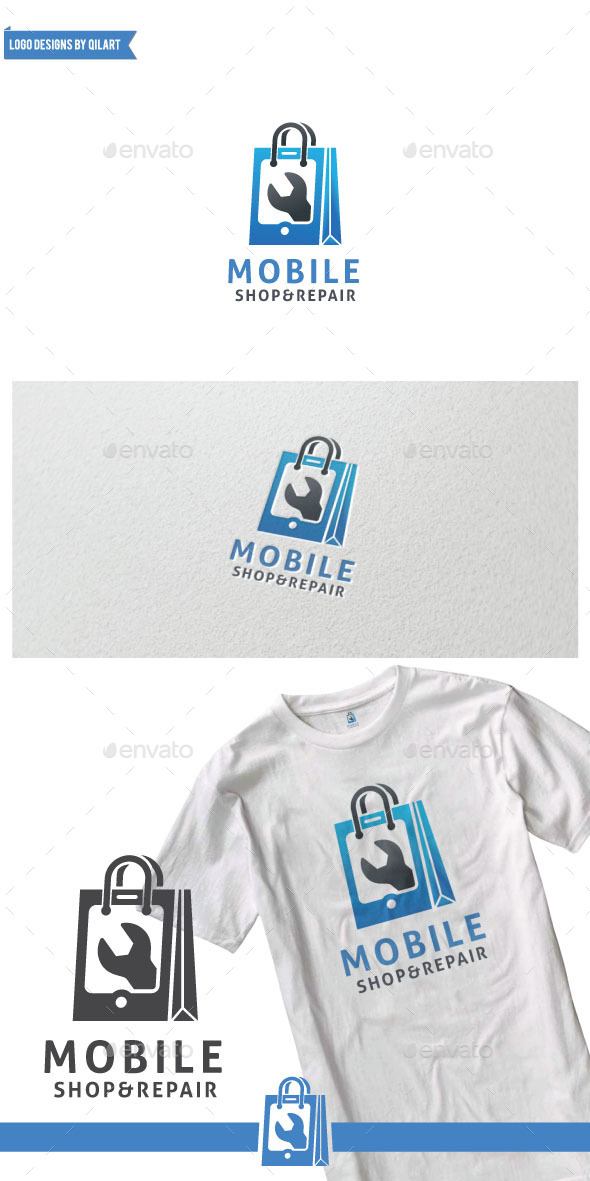 Mobile Shop And Repair - Abstract Logo Templates