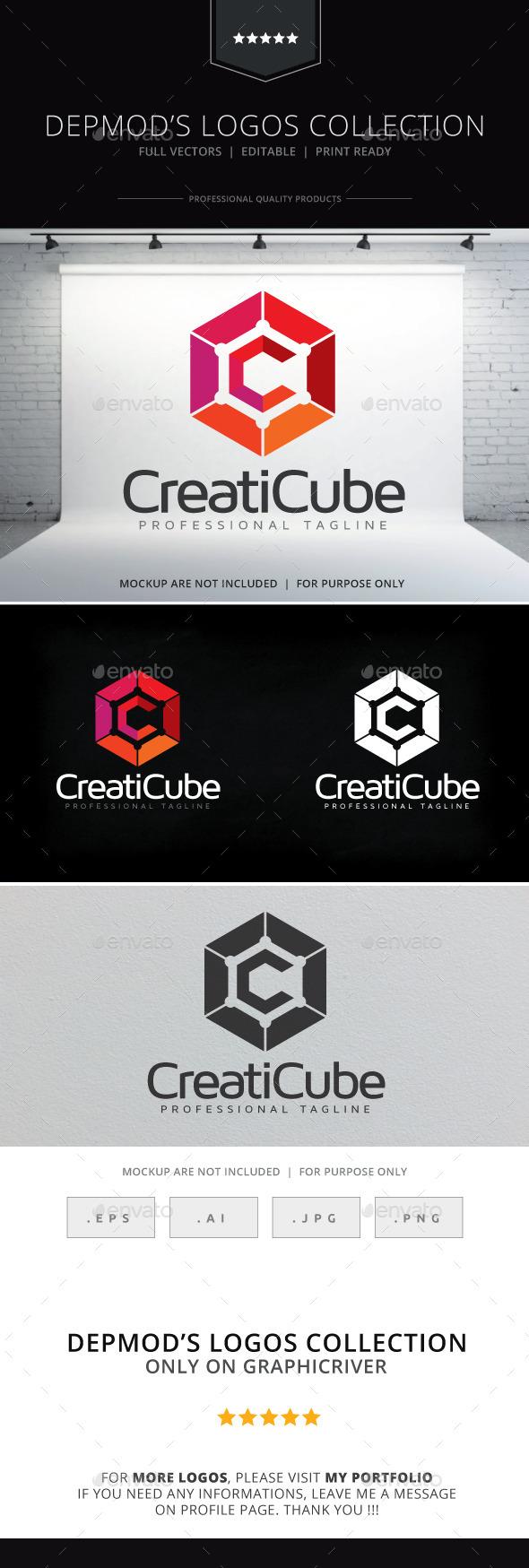 Creaticube Logo - Abstract Logo Templates