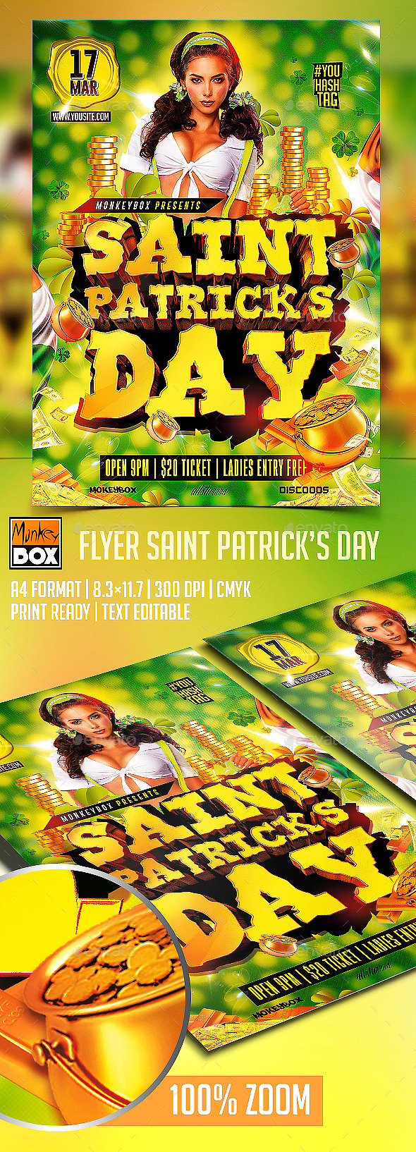 Flyer Saint Patricks Day - Flyers Print Templates