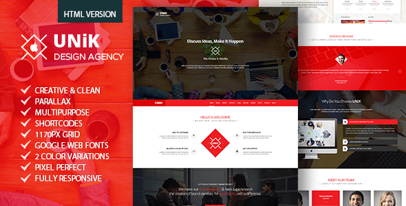 Unik – Creative Multipurpose HTML Template