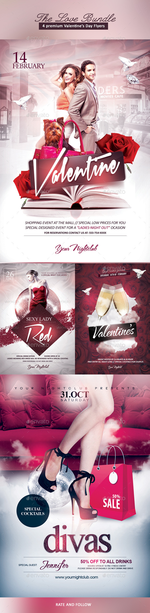 The Love Bundle - Events Flyers
