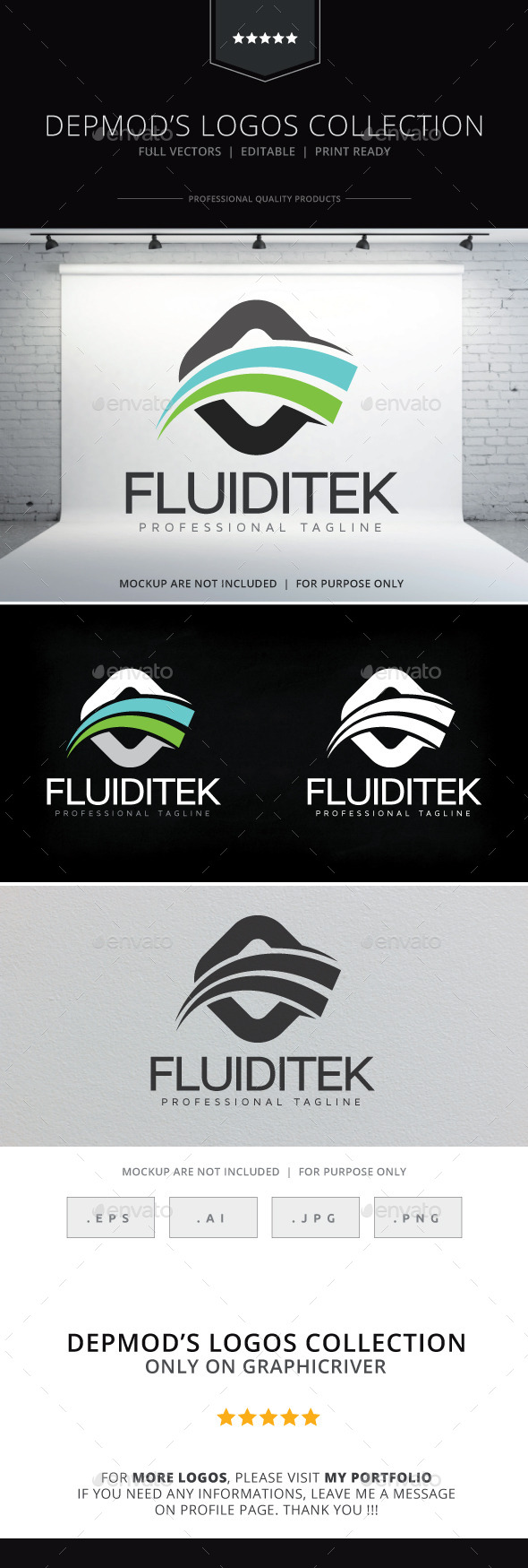 Fluiditek Logo - Abstract Logo Templates