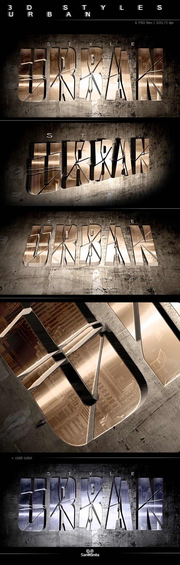 3D Urban Style - Text Effects Styles