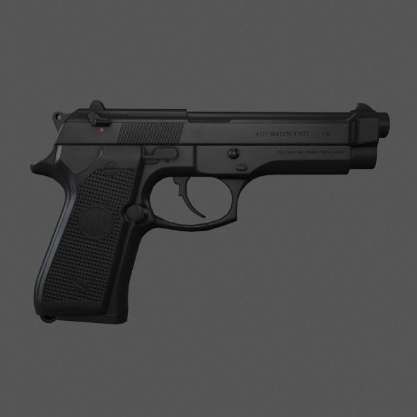 Barreta 9mm - 3DOcean Item for Sale