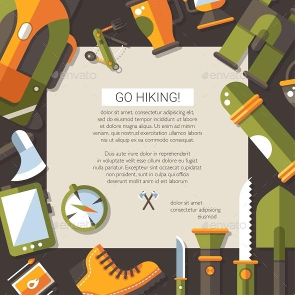 Camping Illustration  - Travel Conceptual