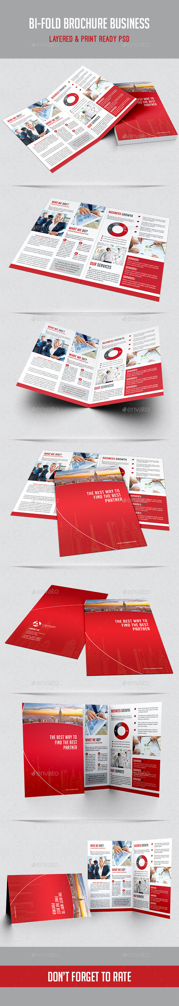 Bi-fold Brochure Business - Corporate Brochures