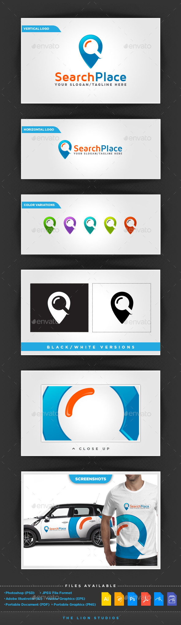 Search Place Logo - Abstract Logo Templates