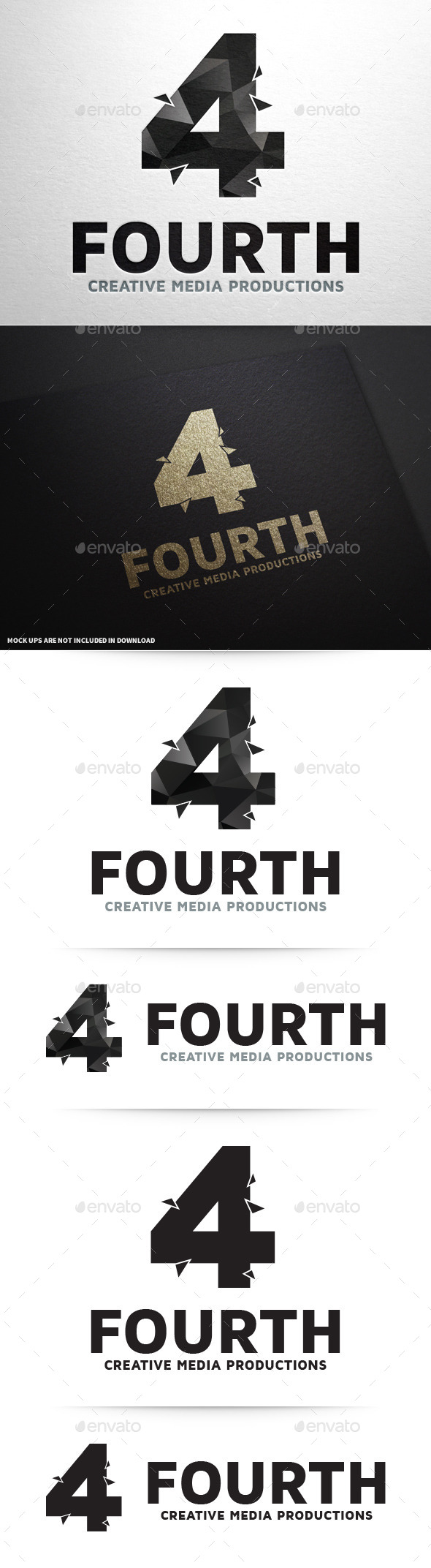 Number Four Logo Template - Numbers Logo Templates