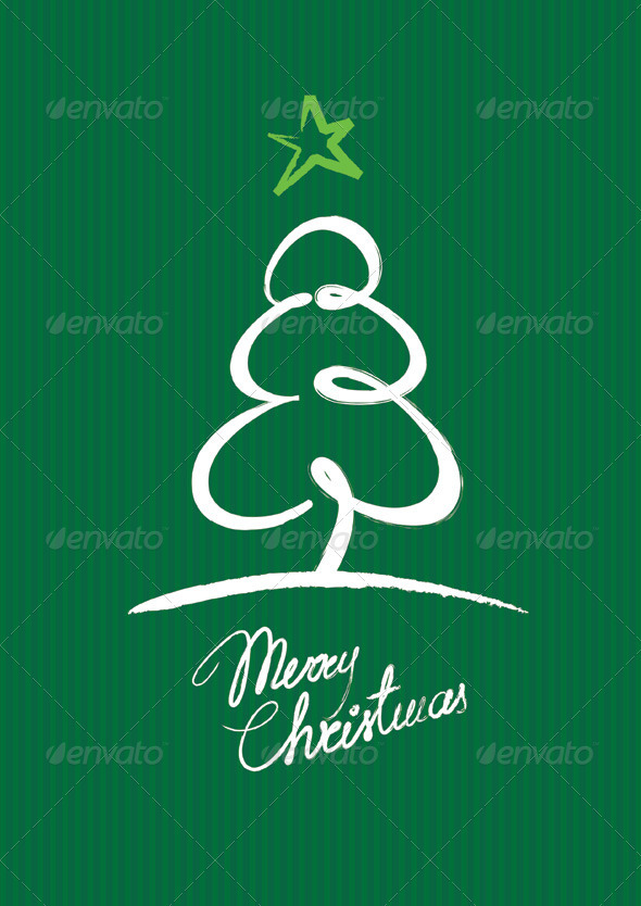 Christmas Tree Greeting Card - Christmas Seasons/Holidays