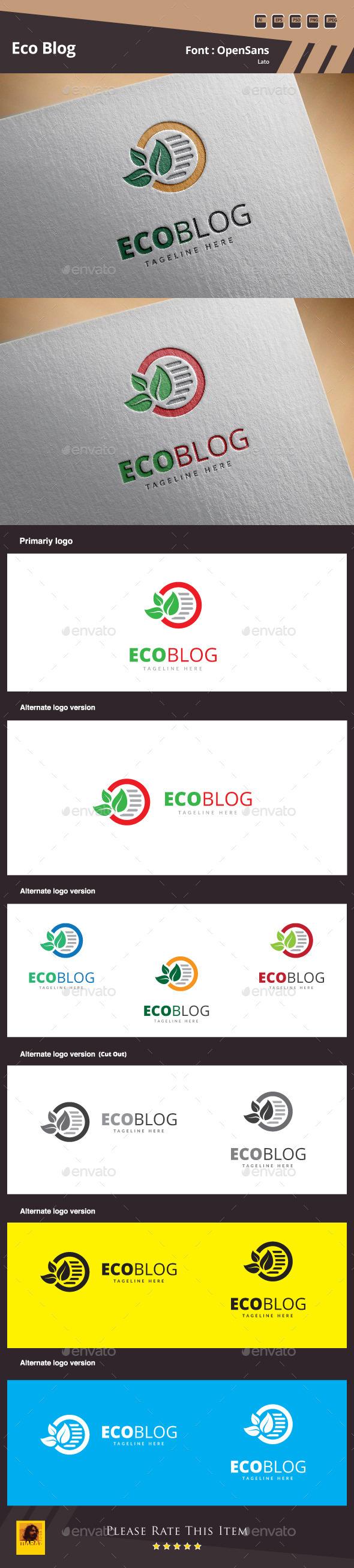 Eco Blog Logo Template - Symbols Logo Templates