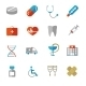 Set of Colorful Medical Icons in Flat Colors - GraphicRiver Item for Sale
