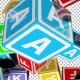 Falling Kids Alphabet Cubes
