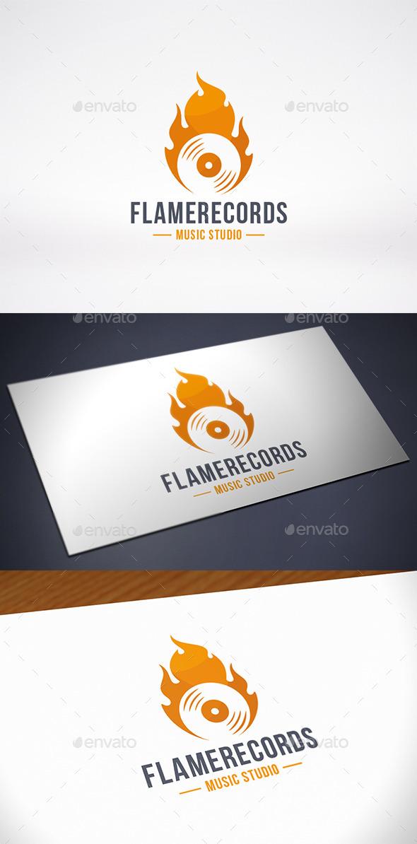 Fire Music Logo Template - Symbols Logo Templates