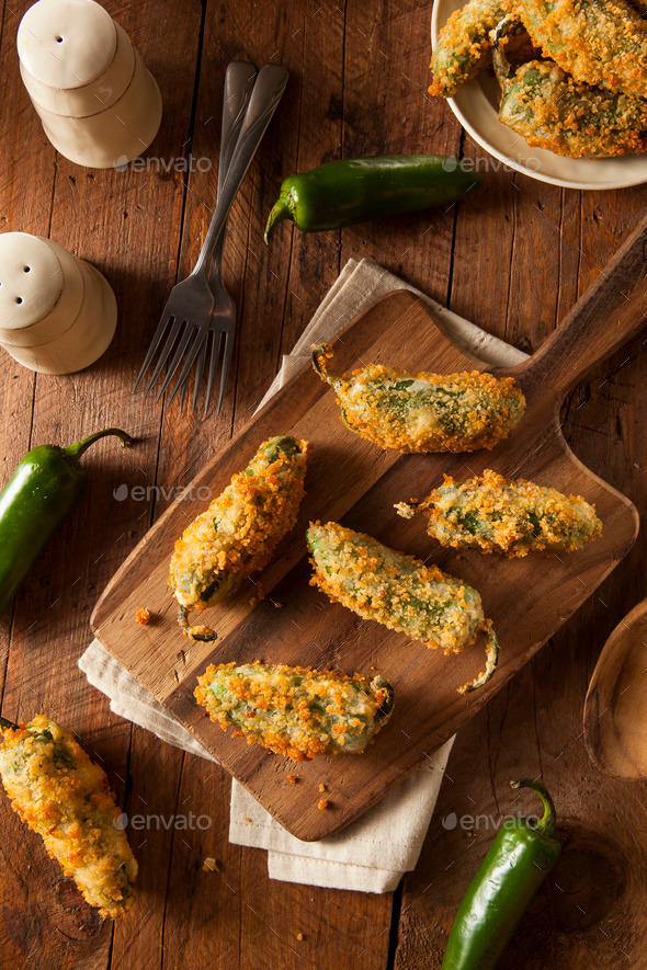 Homemade Breaded Jalapeno Poppers - Stock Photo - Images
