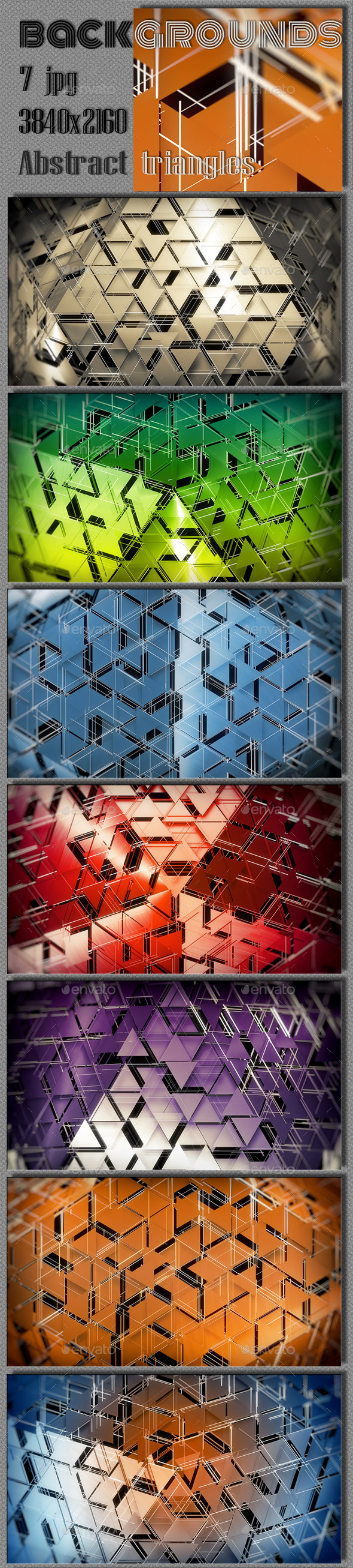 Hi-Tech Polygonal Triangles - Tech / Futuristic Backgrounds