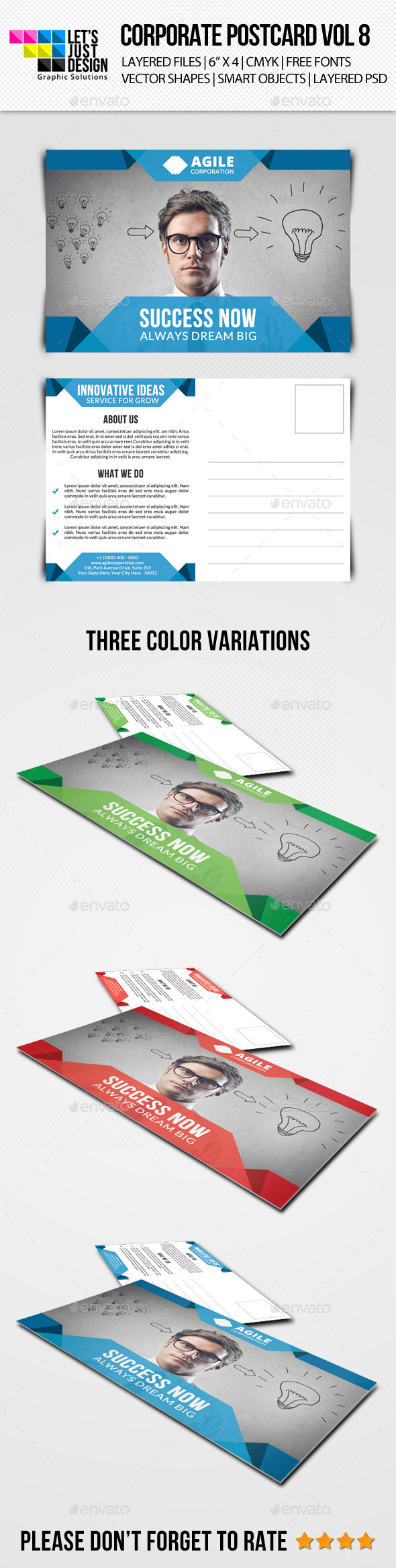 Corporate Postcard Template Vol 8 - Cards & Invites Print Templates