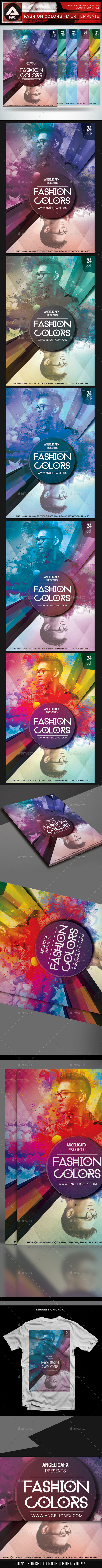 Fashion Colors Flyer Template - Events Flyers