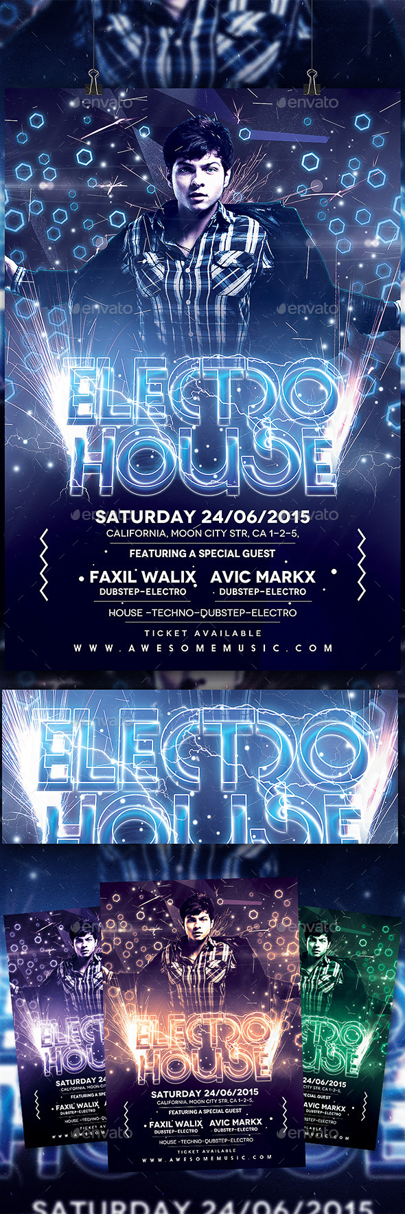 Electo House Flyer - Clubs & Parties Events