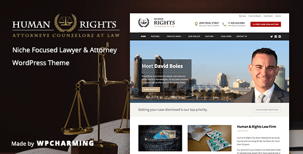 HumanRights – Lawyer and Attorney WordPress Theme