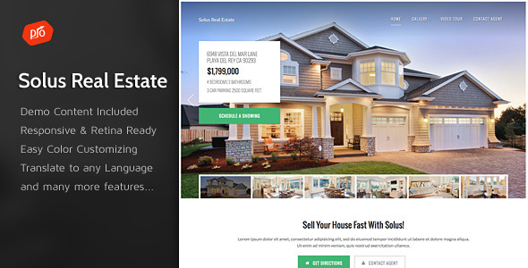 Solus – Single Property Theme