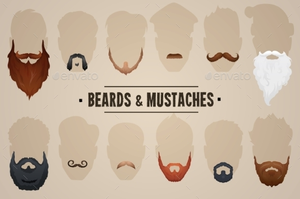 Beards and Mustaches - People Characters
