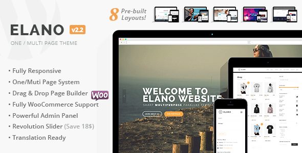 Elano - Multi-Purpose Business & Ecommerce WordPress Theme - Business Corporate