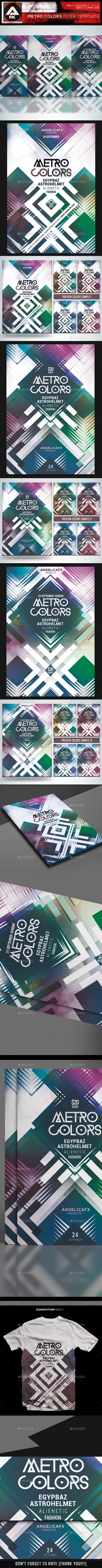 Metro Colors Flyer Template - Flyers Print Templates