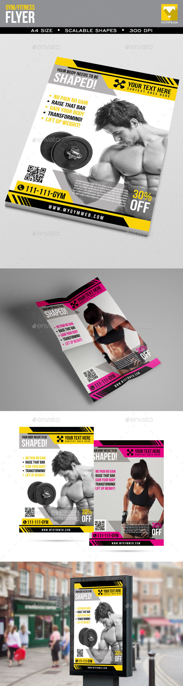 Simple Gym/Fitness Flyer - Sports Events