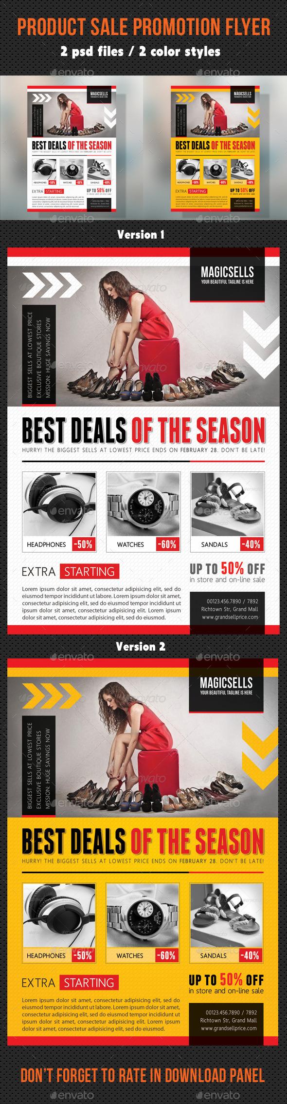 Product Sale Promotion Flyer V02 - Commerce Flyers