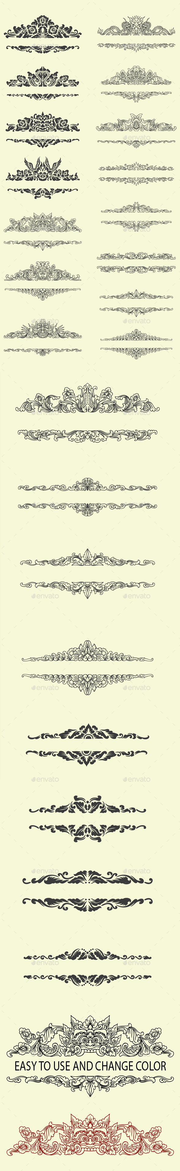 Label Ornaments Decoration - Flourishes / Swirls Decorative