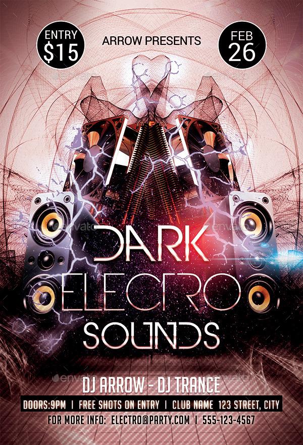 Dark Electro Sounds Flyer Template
