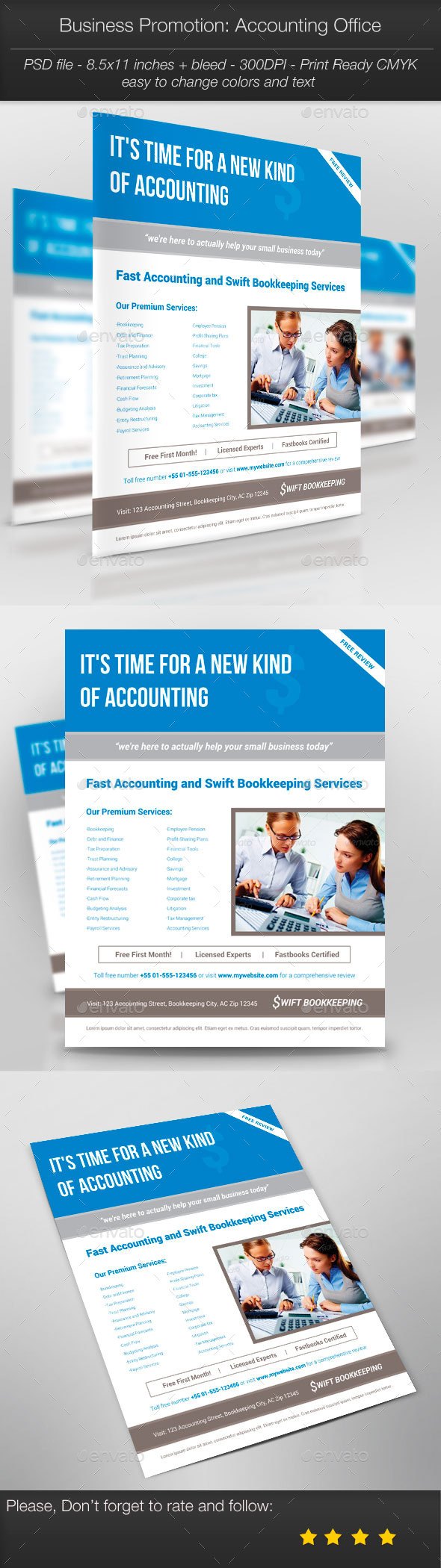 Business Promotion: Accounting Office - Corporate Flyers