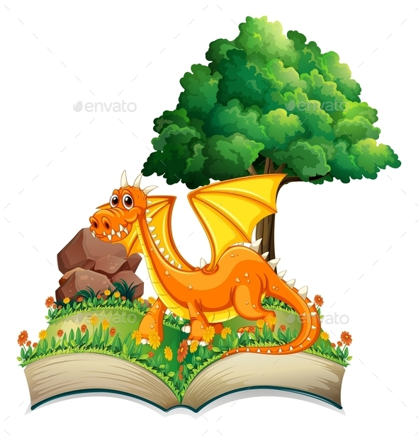 Dragon and Book - Flowers & Plants Nature