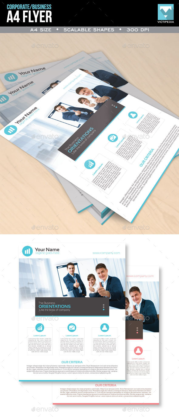 Corporate and Minimalistic A4 Flyer - Corporate Flyers