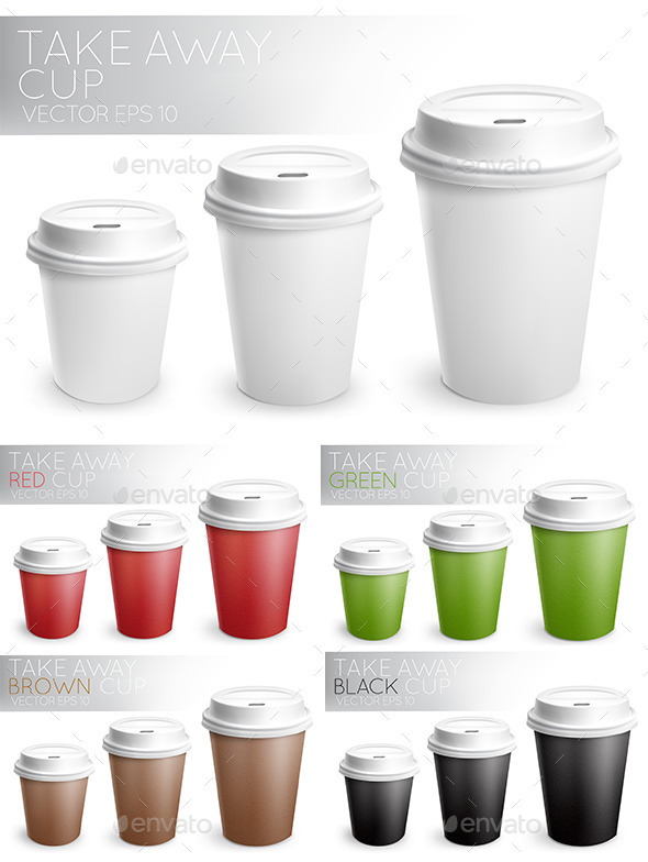 Take Away Paper Cups - Food Objects