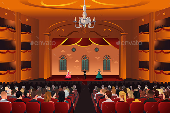 Spectators Inside a Theater - People Characters