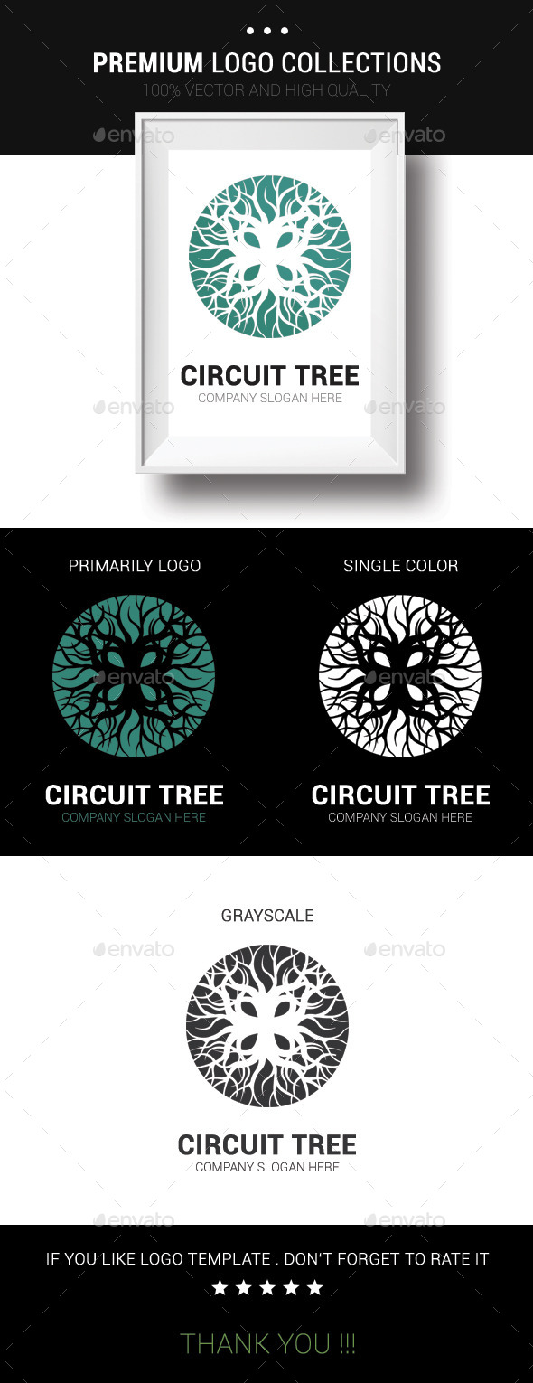Circuit Tree - Nature Logo Templates