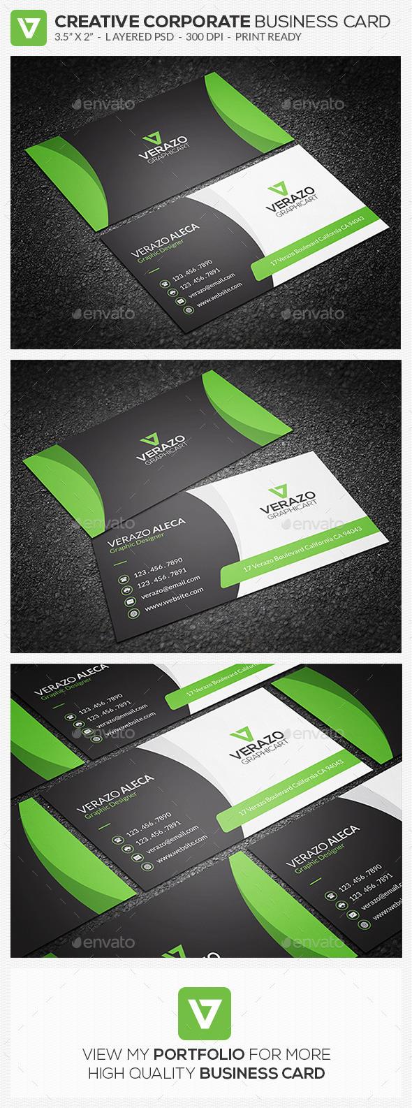 Creative Corporate Business Card 75 - Corporate Business Cards