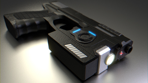 Sci-Fi Handgun - 3DOcean Item for Sale