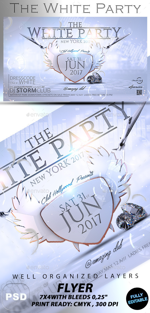 The White Party - Events Flyers