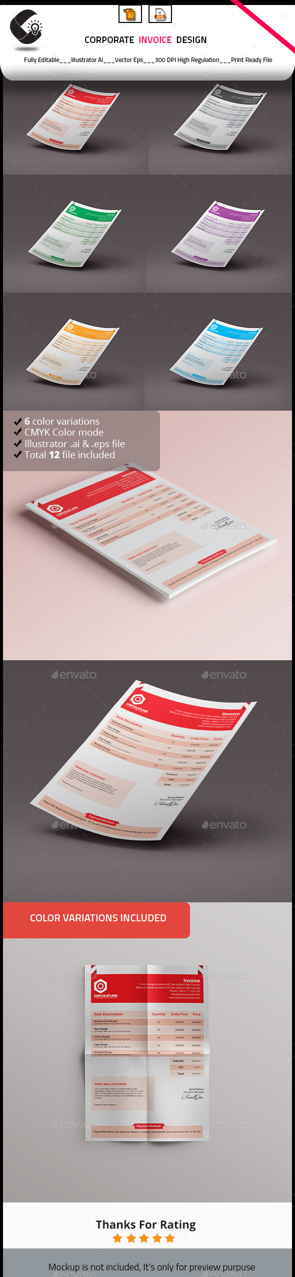 Customisable Invoice Template - Proposals & Invoices Stationery